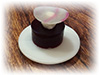 Beetroot gel and goat cheese cream