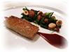 Pigtail, sea lettuce, hazelnuts and mushroom